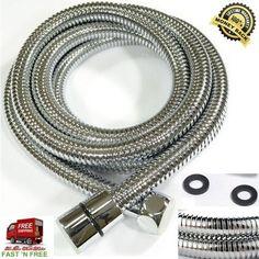 Tube Shower Chromed Stainless Steel Double Buckle Flexible Bathroom 60-118 Inch  #KES