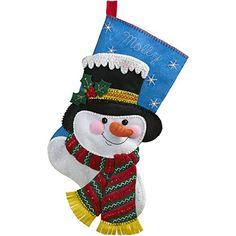 """BUCILLA 86649 Jack Frost Felt Applique Stocking Kit, 18"""" Bucilla http://www.amazon.com/dp/B00XQFEM5A/ref=cm_sw_r_pi_dp_jT5ywb0YSWWQY"""