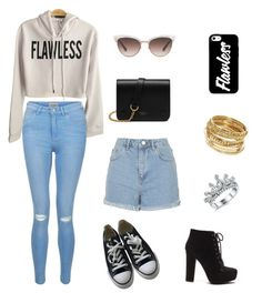 """""""RandomLook#11(Flawless)"""" by lisevelyn on Polyvore featuring New Look, Topshop, Converse, Mulberry, Gucci, ABS by Allen Schwartz and flawless"""