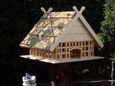 #Fachwerk #Vogelhaus #Garten #Futterstelle #Holz #heimwerken #selbermachen