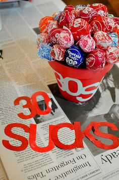 What a simple but fun waynto celebrate those big milestones!  Milestone birthday idea--30, 40, 50, etc