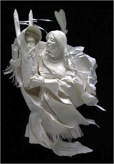 Cast Paper Sculptures by Allen & Patty Eckman