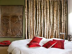 Birch Branches as Wall Accent