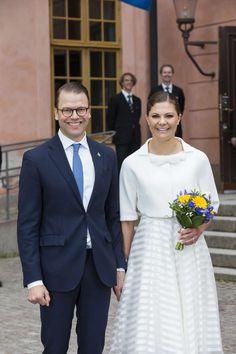 Crown Princess Victoria and Prince Daniel. Fête nationale de Suède