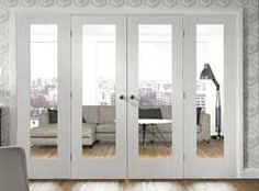 white interior folding doors