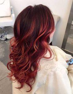 20 + Red Penteados Longos #longos #penteados #RedPenteados #vermelhoPenteados