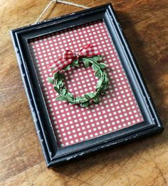 Quick and Easy Christmas Artwork Using Wrapping Paper | Noting Grace Tartan Christmas, Christmas Post, Christmas Coffee, Christmas Mantels, Pink Christmas, Simple Christmas, Christmas Dining Table, Christmas Artwork, Diy Artwork
