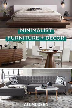 Scandinavian, Mid-Century + More Styles. Minimalist Furniture, Minimalist Home Decor, Minimalist Living, Interior Paint Colors For Living Room, Living Room Decor, Bedroom Decor, Rustic Furniture, Living Room Designs, Home Furnishings