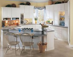 Will These 16 Rustic, Country Kitchens Inspire Your Remodel?: Innovative Breakfast Bar in Country Kitchen