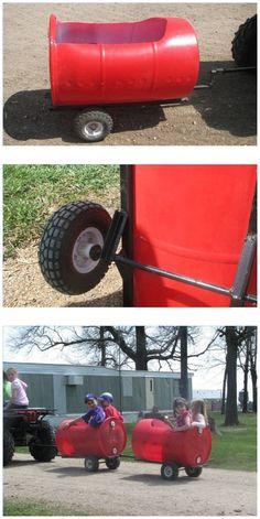 DIY Plastic Barrel Train