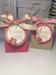 Kreative Schwestern: Kleine Geschenktüten