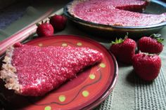 Nothing tastes like summer like a cool, raw, plant-based tart made from fresh strawberries and rhubarb.