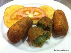 spinach croquettes - El Rincon. I miss Sandra's croquetas (my Spanish host mom).