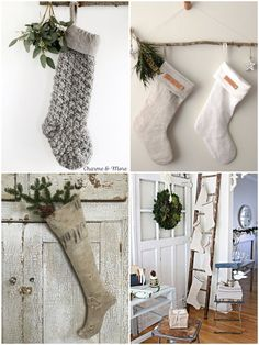 Minimal Chic, More, Chicano, Christmas Stockings, Minimalism, Holiday Decor, Inspiration, Home Decor, Needlepoint Christmas Stockings