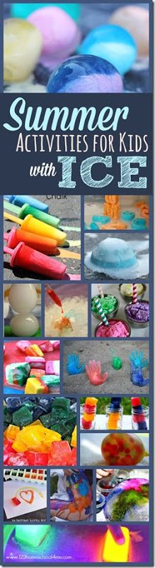 Summer Activities for Kids with Ice - So many super clever and fun kids activities for kid of all ages. MUST TRY!
