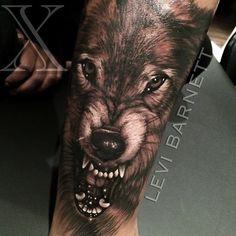 xlevibarnett_tattoox Little wolf @tatsupsupplyco @hustlebutterdeluxe @mathandsciencelab #wolf #wolftattoo #blackandgreytattoo