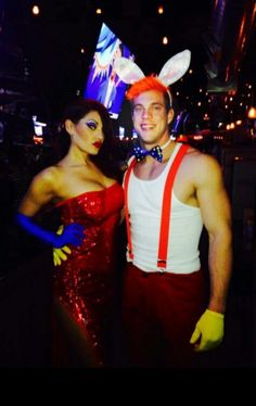 Jessica and Roger rabbit couple's costume