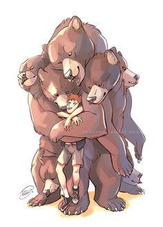 Multi-Bear Hug by Junryou-na-Kokoro on DeviantArt