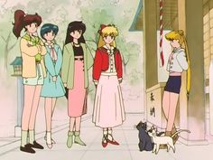 Fighting evil by moonlight, looking fierce by daylight. The Sailor Scouts may have been 90's heroes but they were also 90's fashion queens.