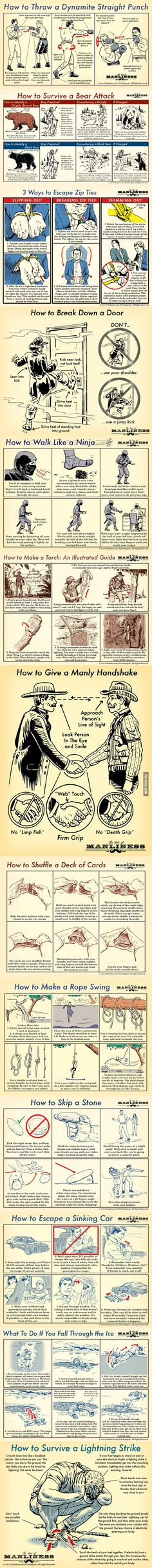 Manly Skills for men