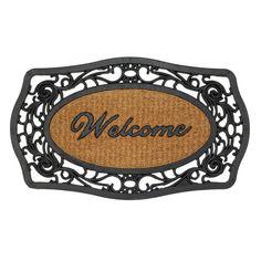 Frill Framed Welcome Entry Mat