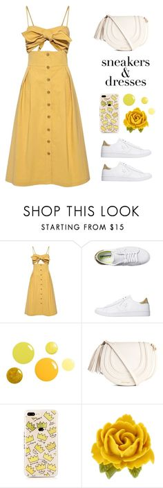"""""""Sneakers & dresses"""" by miee0105 ❤ liked on Polyvore featuring Sea, New York, Converse and Tarina Tarantino"""