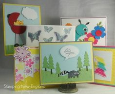 I love these bright Summer cards made with SU Punches