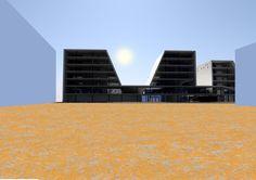riverside office bulding, school project