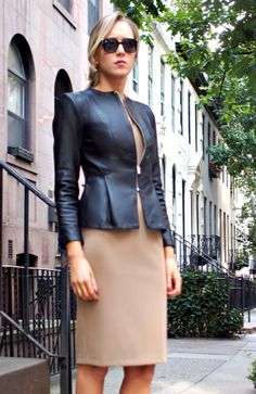 d3bf53e3c3996 The Classy Cubicle: A Little Leather. The fashion blog for professional  women in need