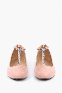Ava Chain Flat - Blush