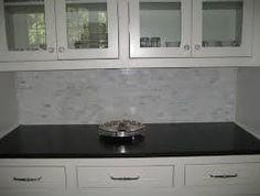 white kitchen backsplash   white cabinet marble mosaic kitchen