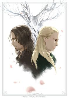 Brother in arms Aragorn and Legolas