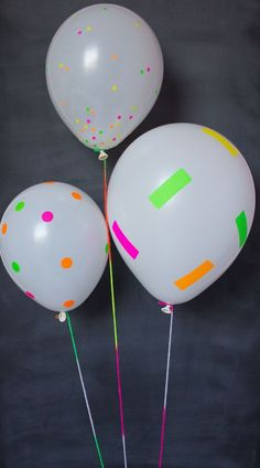 Last minute DIY balloon ideas for birthday parties and more using dollar store supplies that will make your party rock. Easy DIY balloon tutorials for kids. Neon Birthday, 13th Birthday Parties, Birthday Ideas, Dance Party Birthday, 11th Birthday, Birthday Balloons, Glow In Dark Party, Black Light Party Ideas, Black Light Party Supplies