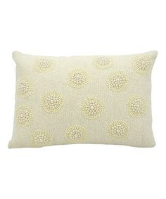 Look at this #zulilyfind! Ivory Vendôme Throw Pillow by Nourison #zulilyfinds