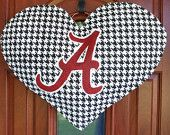 Big Heart Alabama Fan Burlap door and wall hanger