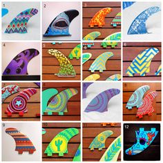Select a style and customise the colours to match your surfboard. Decorated to coordinate with your rig, these fins are hand painted before being