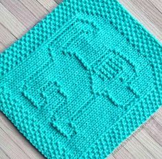 Knitted Dog Facecloth - any colour