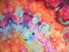Ice Dyed Batik. Carol R. Eaton Designs: Fabric Dyeing