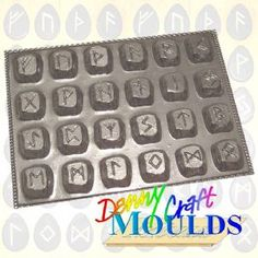 RUNES CHOCOLATE MOULD (All 24 Rune Moulds on 1) | Denny Craft Moulds