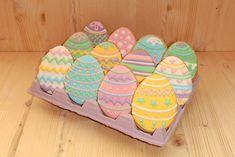 Receta en el blog de CupKate's: Galletas huevo de Pascua - Easter egg cookies