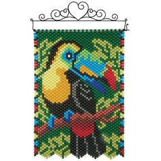 Pony Bead Patterns, Peyote Patterns, Loom Patterns, Beading Patterns, Cross Stitch Patterns, Pony Bead Crafts, Beaded Crafts, Cross Stitch Bird, Cross Stitch Animals