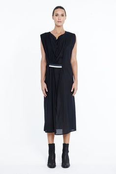 Refinery Clothing - Zambesi light weight dress in black lawn