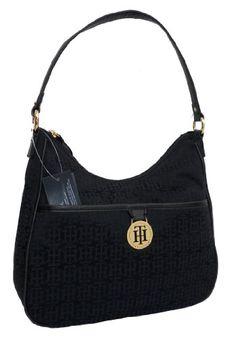 Tommy Hilfiger Shoulder Handbag Black #Black, #Handbag, #Hilfiger, #Shoulder, #Tommy