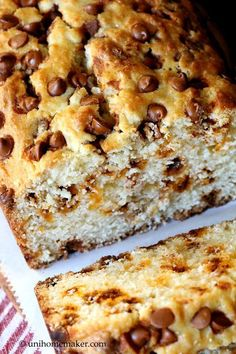 Eggnog Rum Bread with Cinnamon Chips. I did use chocolate chips, rum, and this is wonderful!!! I will make this again throughout the year, with homemade eggnog.