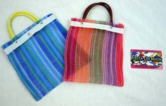 Small mexican bolso- Use as a candy bag to hold all the candy you get at the pinata! Alamo Fiesta - MESH BAG MINI 7X5IN