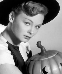 Etchika Choureau, Halloween Witch, 1958. Sexy Witch | This is a blog about sexy witches of all varieties: elegant, attractive, pretty, cute, hot, naughty and femme fatales; real lif...