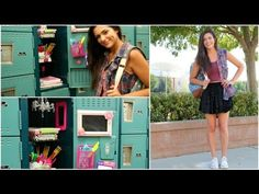 Back to School: Locker Organization + DIY Decorations! @Bethany Shoda Mota I absolutely loved this video! <3 <3 I'm so going to decorate my locker this year! Great Ideas! #Senioryear Yay! :) :)