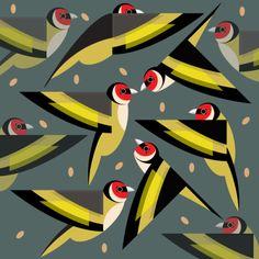 Goldfinch Greeting Card - I Like Birds Bird Illustration, Pattern Illustration, Illustrations, I Like Birds, Guache, Goldfinch, Bird Patterns, Bird Art, Pet Birds