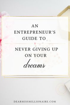 Don't let someone who gave up on their dreams, talk you out of yours!