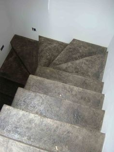 Cemento ocre con nariz de madera escaleras pinterest for Cemento pulido blanco